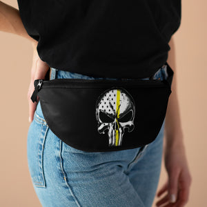 Thin Yellow Line Skull Fanny Pack