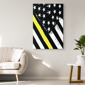 Thin Yellow Line Wall Art
