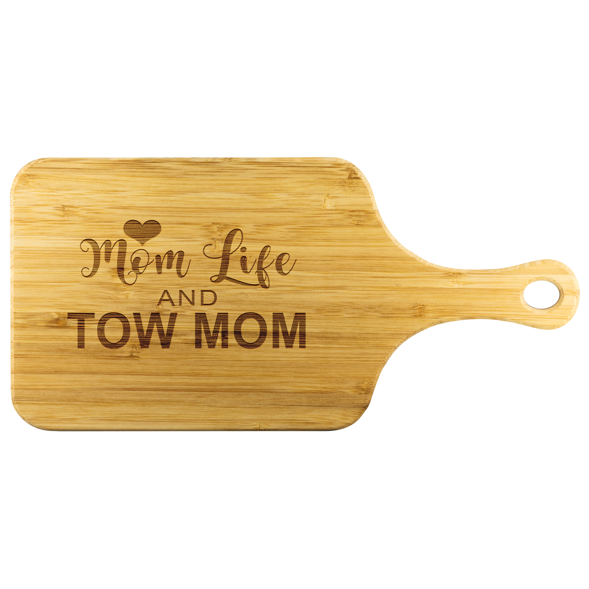 Mom Life Tow Wife Wood Cutting Board