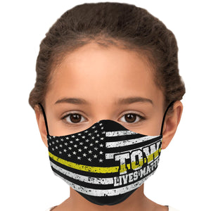 Towlivesmatter Face Mask's Kids