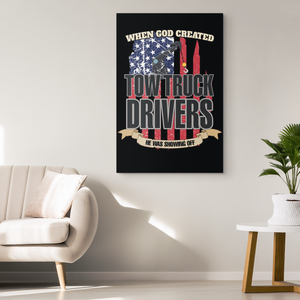 Proud Tow Truck Driver Canvas