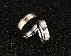 Thin Yellow Line High Quality Couple Ring