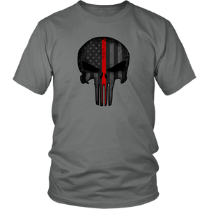 Thin Red Line Skull Shirt