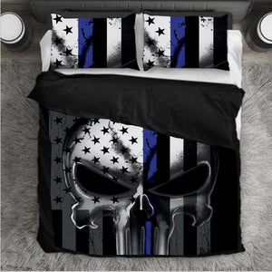 Punisher Bedding Set - Thin Blue Line