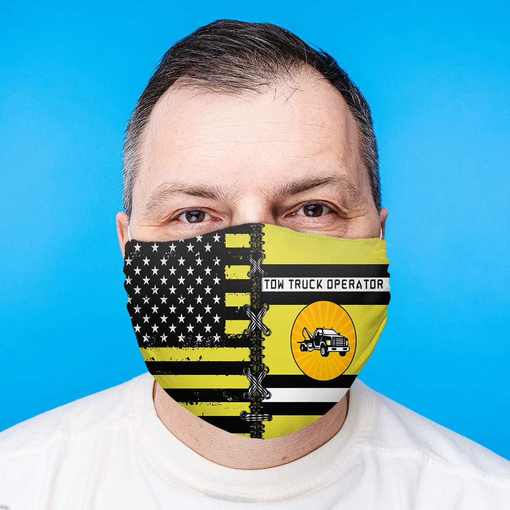 Proud Tow Truck Operator Face Mask (Unisex)