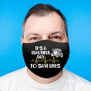 Tow operator Save Lives Face Mask (Unisex)