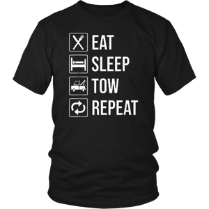 EAT SLEEP TOW SHIRT