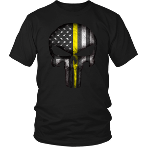Thin Yellow Line Skull Shirt