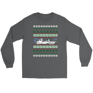 PROUD TOW TRUCK OPERATOR UGLY CHRISTMAS SWEATER
