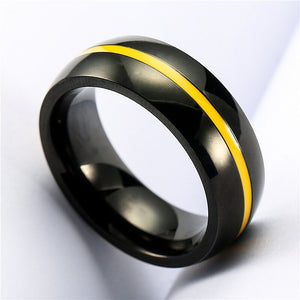 Thin Yellow Line Premium Ring