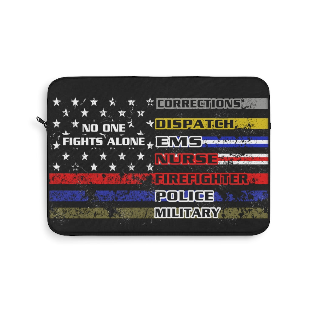 No One Fights Alone Laptop Sleeve