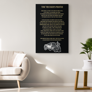 Tow Trucker's Prayer Canvas