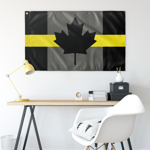 Thin Yellow Line Canada Flag