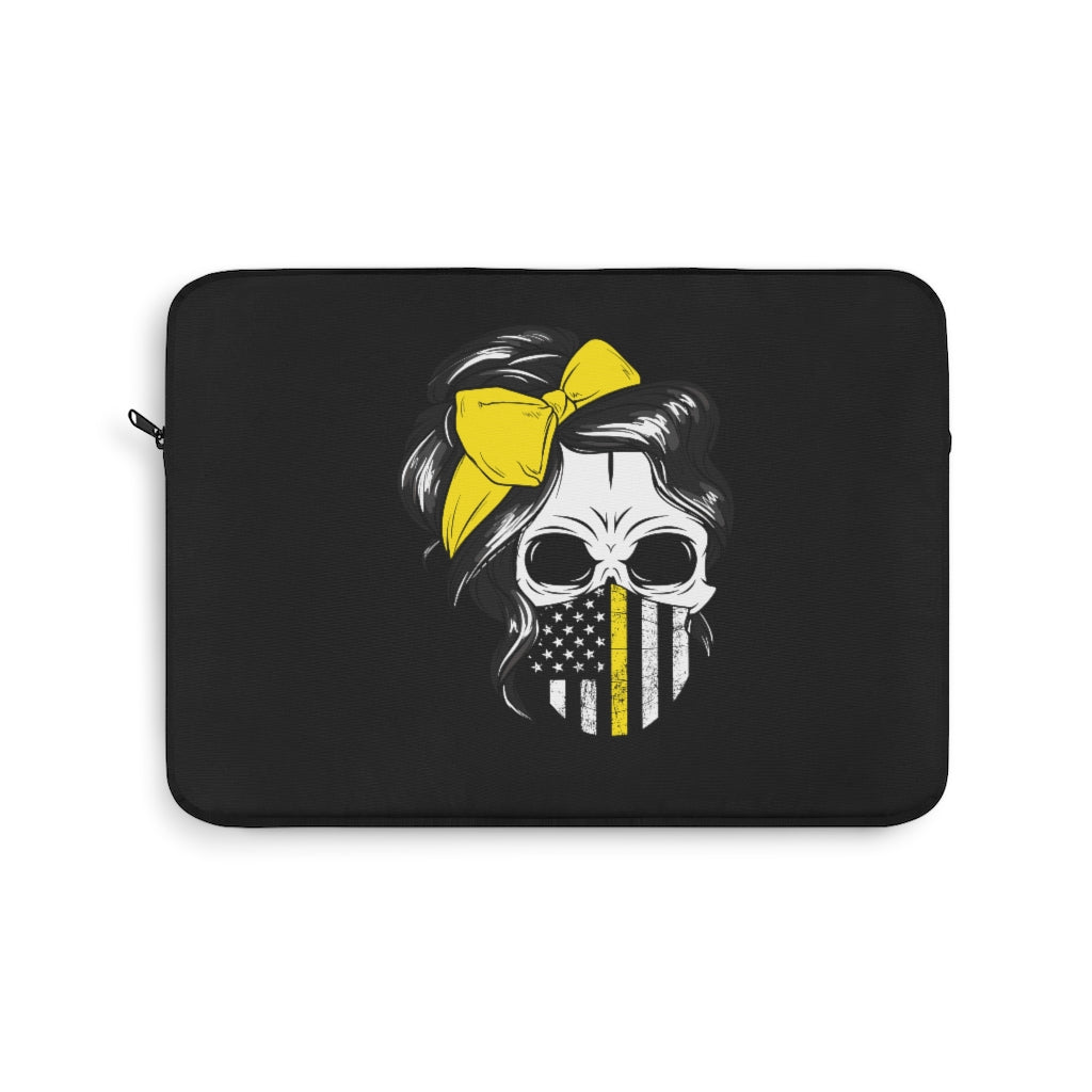 Thin Yellow Line Laptop Sleeve