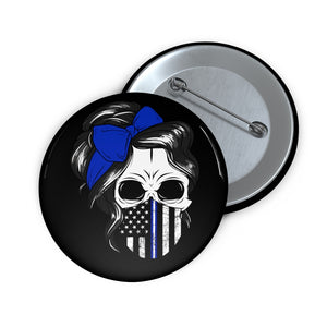 Thin Belue Line Pin Buttons