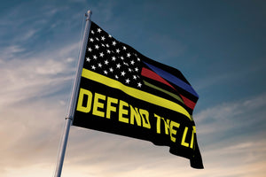 Defend The Line Towing Flag