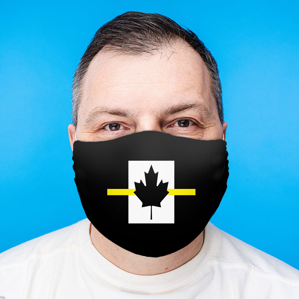 Thin Yellow Line Canadian Face Mask (Unisex)