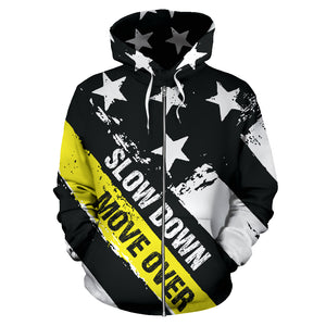 Slow Down Move Over Zip-Up Hoodie