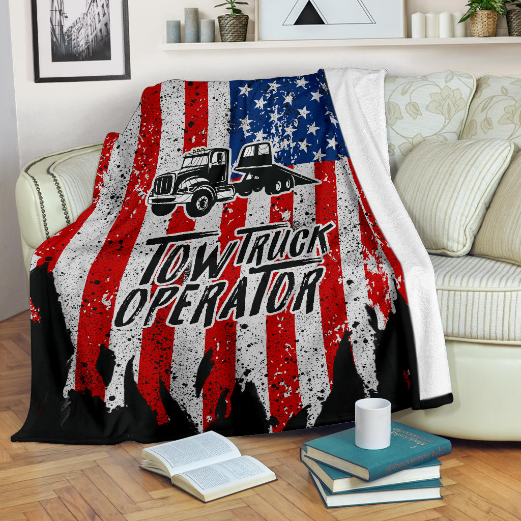 Proud Tow Truck Operator Blanket - Flatbed Version