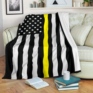 Thin Yellow Line Blanket