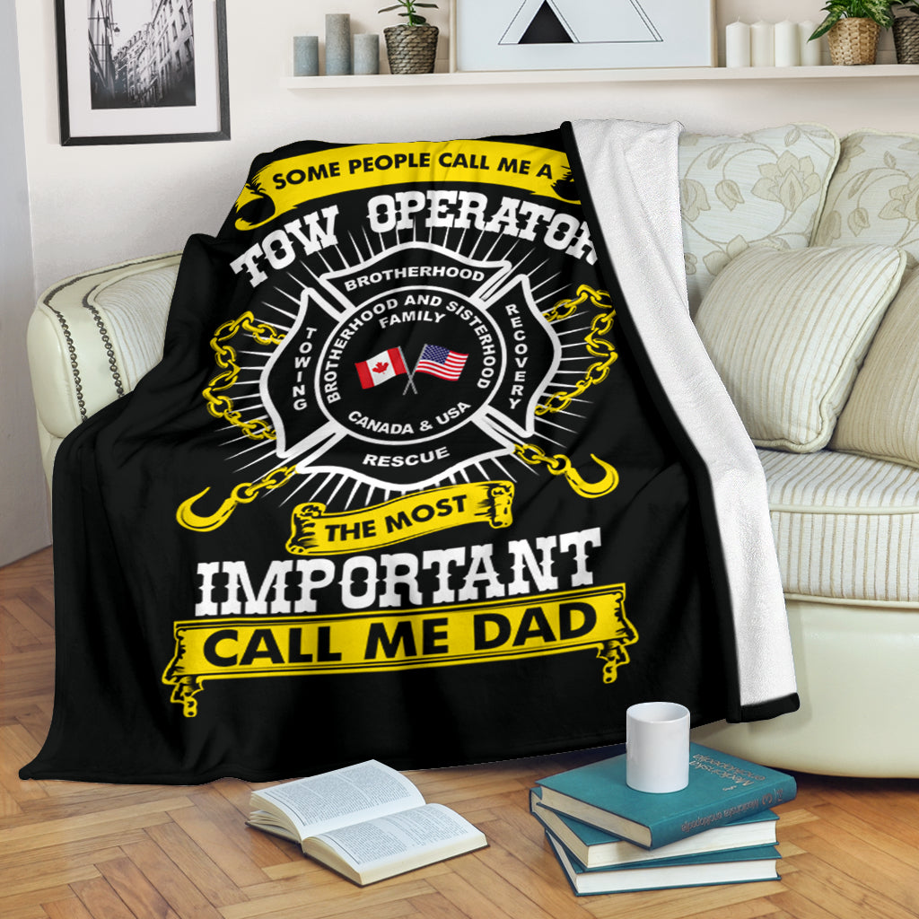 Proud Tow Operator Dad Blanket