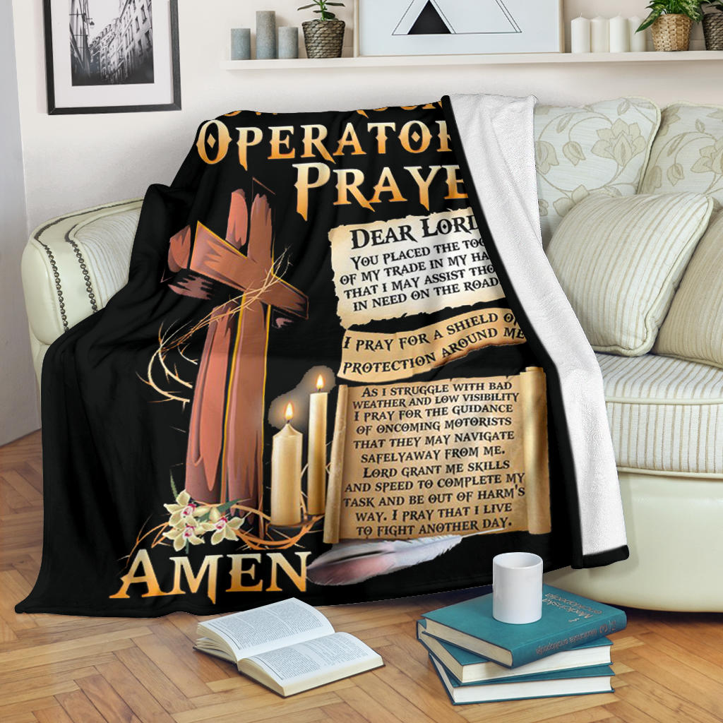 Proud Tow Truck Operator's Prayer Blanket