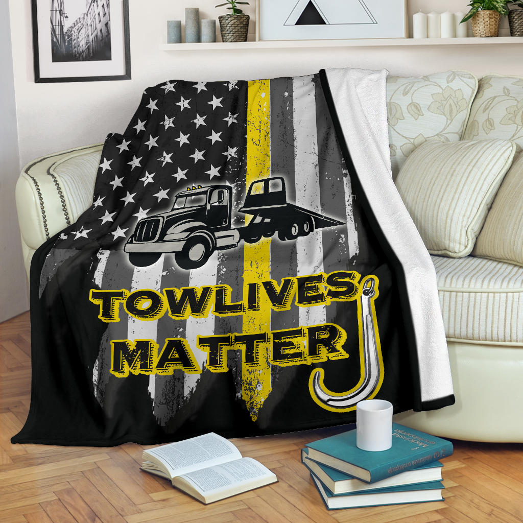 Towlivesmatter Blanket - Flatbed Version