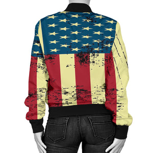 NP American Flag Women's Bomber Jacket