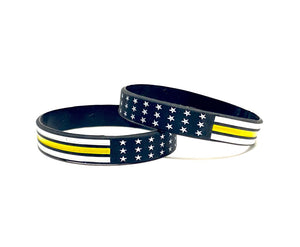 Thin Yellow Line Bracelet Wristbands