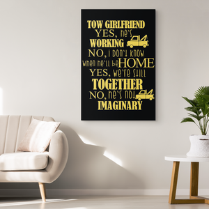 Proud Tow Girlfriend Canvas