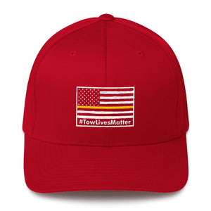TOW LIVES MATTER FLAG HAT (FLEX-FIT)