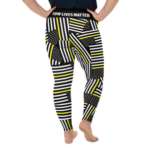 Thin Yellow line Size Leggings