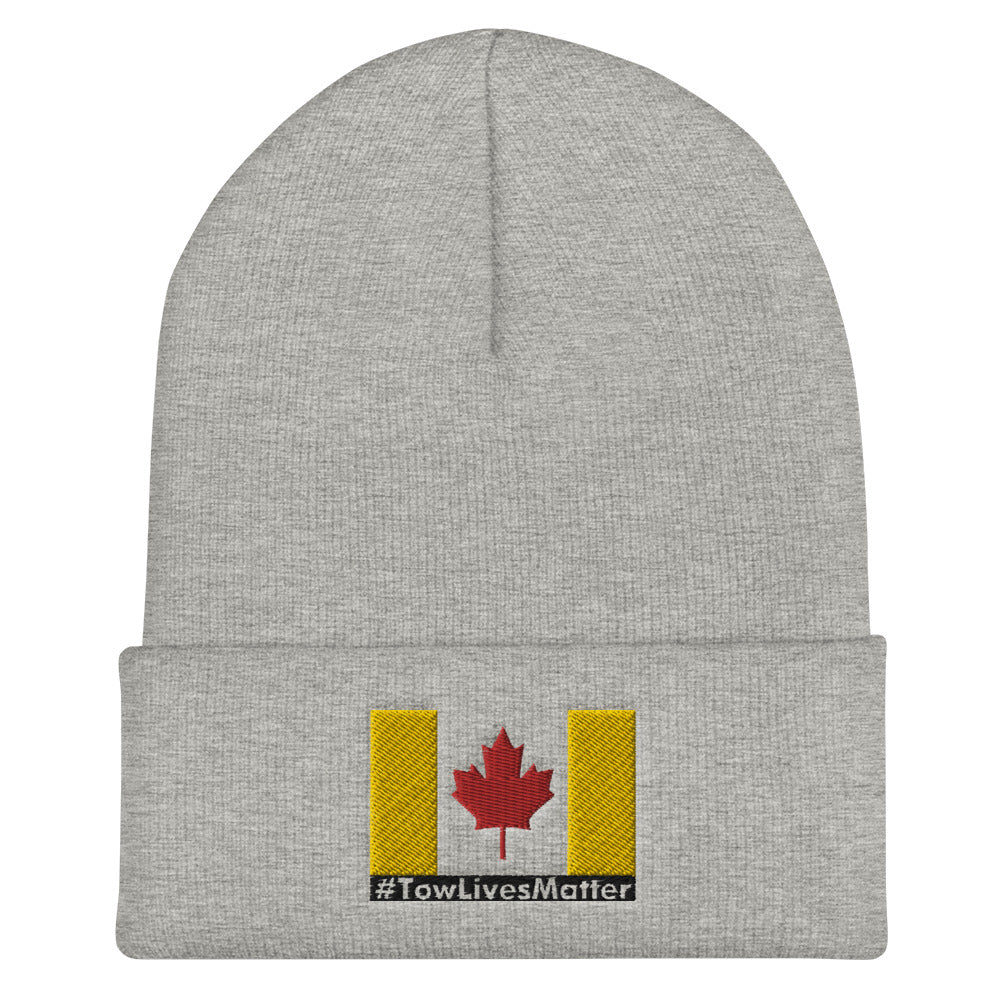 Towlivesmatter Canadian Cuffed Beanie