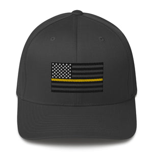 Thin Yellow Line Structured Twill Cap