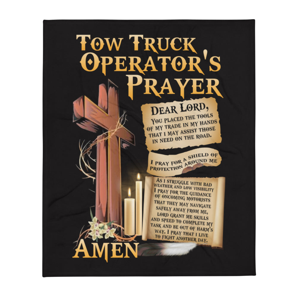 Tow Operator's Prayer Throw Blanket