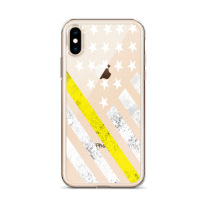 The Thin Yellow Line iPhone Case