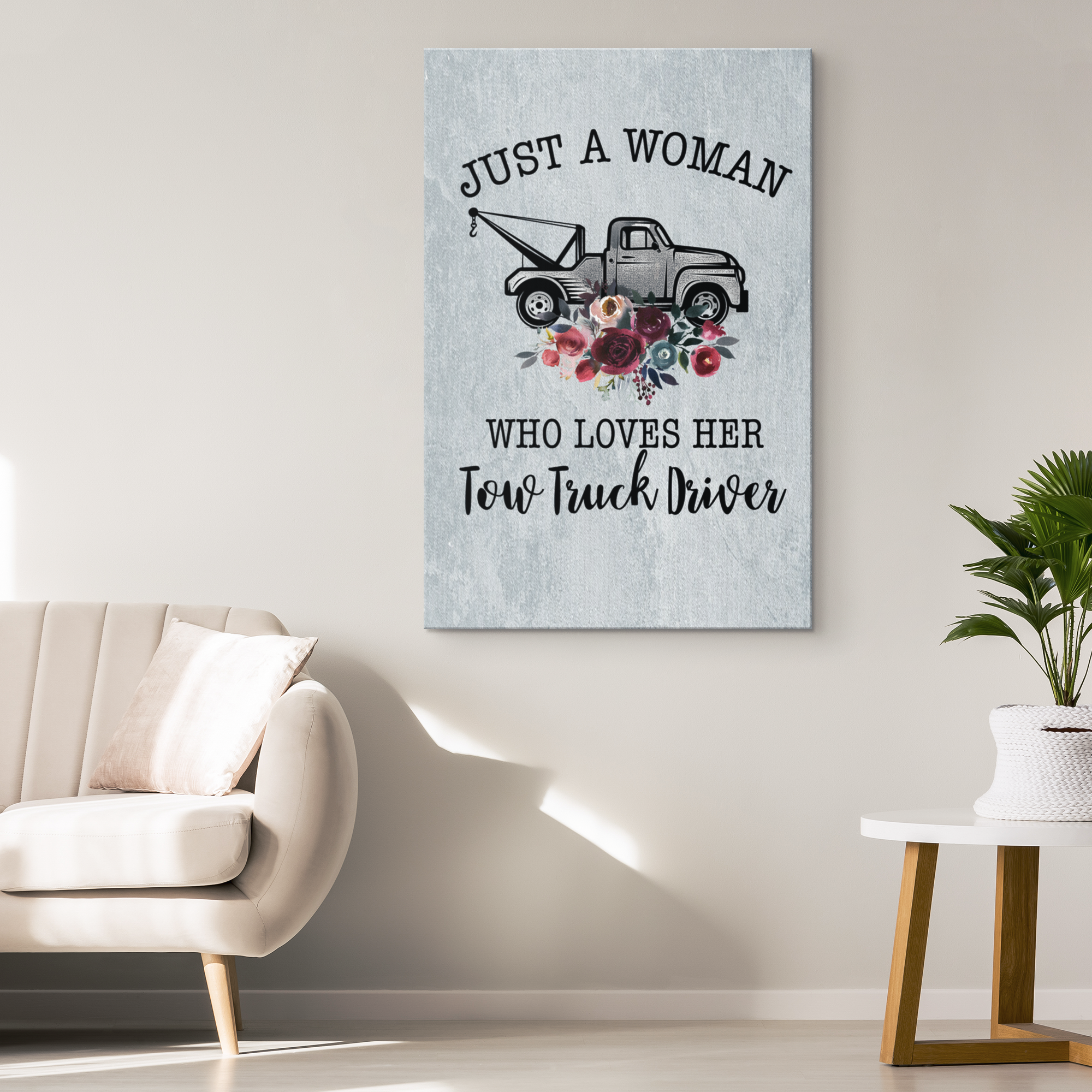 Proud Tow Girl Canvas