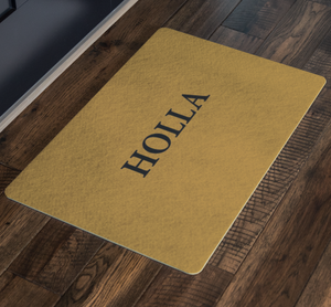 Holla Doormat (Hand Stenciled)