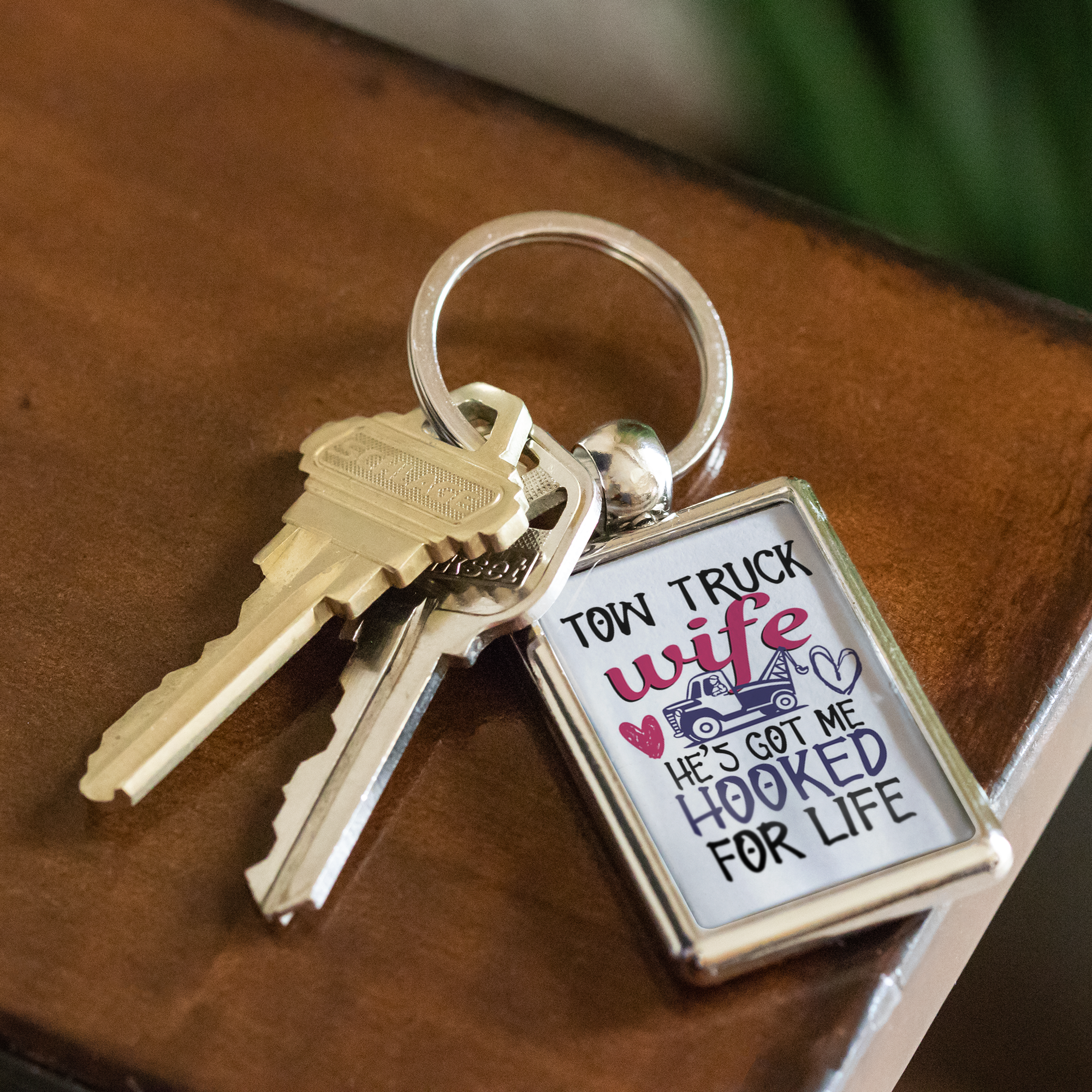 Proud Tow Wife Keychain