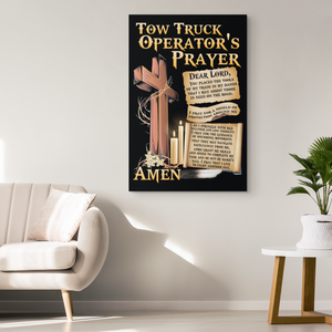 Tow Truck Operator's Prayer Canvas