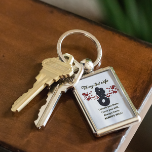 Proud Tow Husband/Wife Keychain