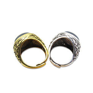 Thin Yellow line Premium Vintage Ring (Unisex)