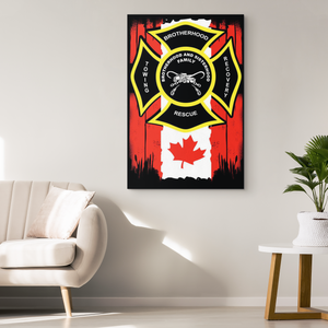 Towing Canadian Flag Canvas