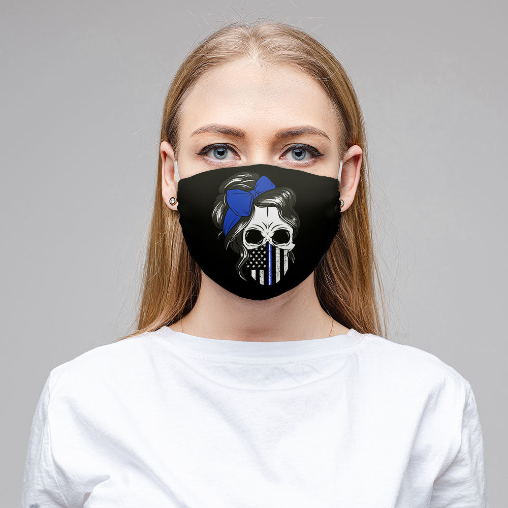 Thin Yellow Line Face Mask