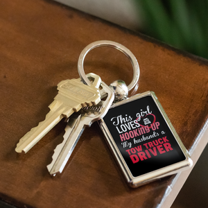 Proud Tow Operator's Girl Keychain