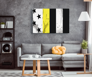 Thin Yellow Line Canvas