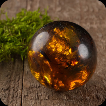 Natural Amber Stone For Amber Jewelry Making 31932 5cm Polished AMBER Pendant with Orange Yellow Amber from Chiapas Mexico