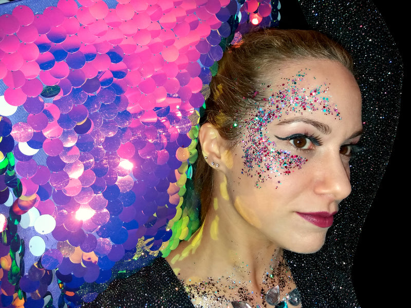How to apply Festival Glitter Makeup