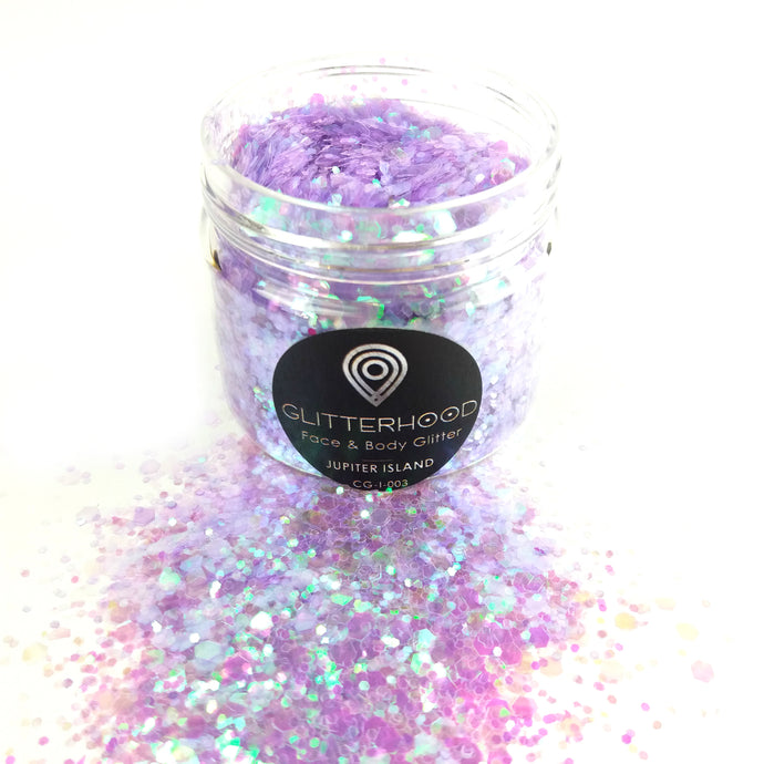 Jupiter Island Purple chunky glitter by Glitterhood.com - large pot