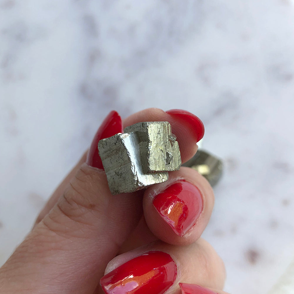 Pyrite Cubic Crystal 1pc